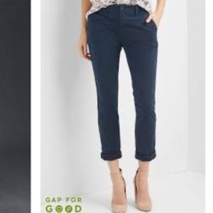 Gap Navy Girlfriend Chino Pants